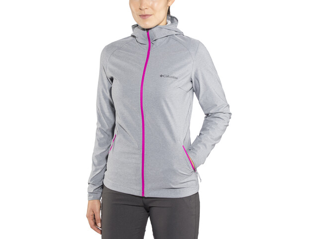Columbia Heather Canyon Softshell Jacket Damen grey ash heather